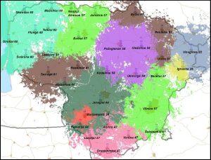 DVB-T Tinklai lietuvoje (žemėlapis)