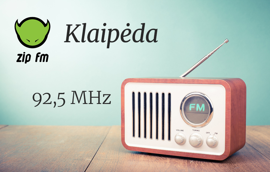 ZIP FM Dažnis Klaipėdoje