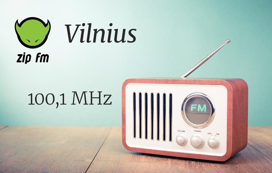 ZIP FM Dažnis Vilniuje