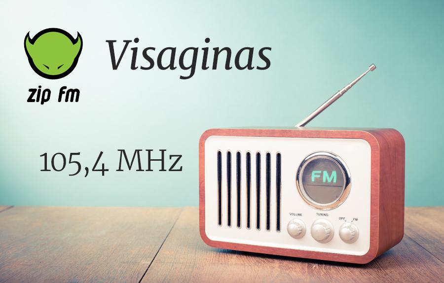 ZIP FM Dažnis Visagine